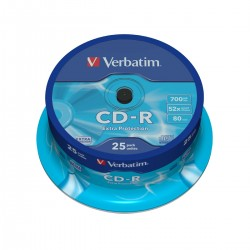 CD-R 700MB 52X PROTECTION CAKEBOX 25UD