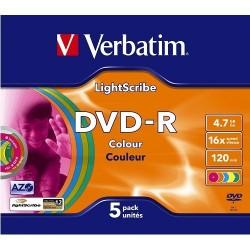 DVD -R VERBATIM 8,5GB 16X SILVER JEWELL C/5