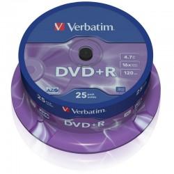 DVD +R VERBATIM 4.7GB 16X TARRINA 25 UNIDADES